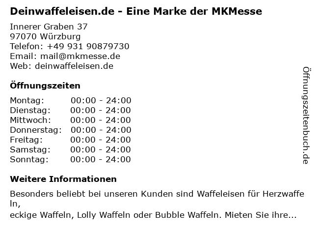 Deinwaffeleisen.de - Eine Marke der MKMesse in Würzburg: Adresse und Öffnungszeiten