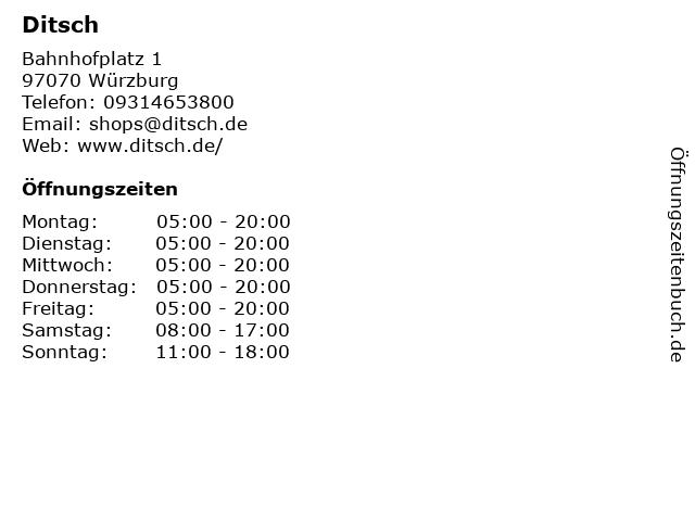 Ditsch in Würzburg: Adresse und Öffnungszeiten