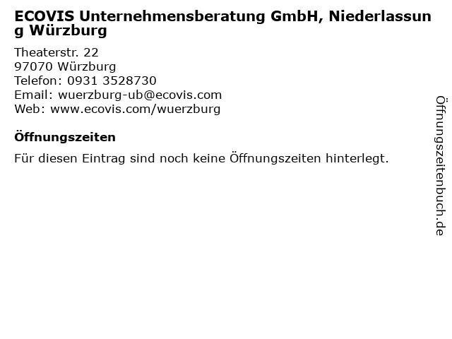 ECOVIS Unternehmensberatung GmbH, Niederlassung Würzburg in Würzburg: Adresse und Öffnungszeiten