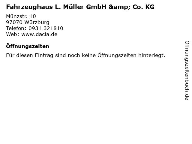 Fahrzeughaus L. Müller GmbH & Co. KG in Würzburg: Adresse und Öffnungszeiten
