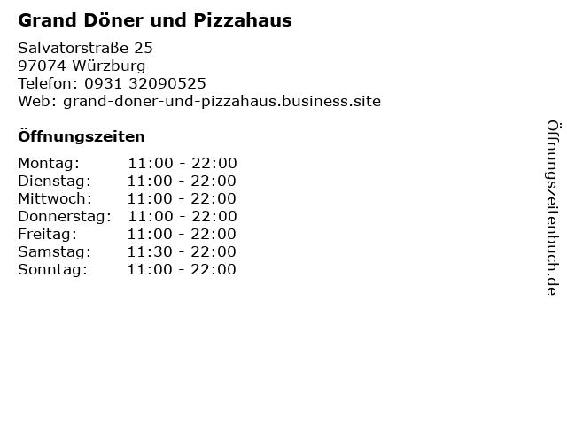 Grand Döner und Pizzahaus in Würzburg: Adresse und Öffnungszeiten