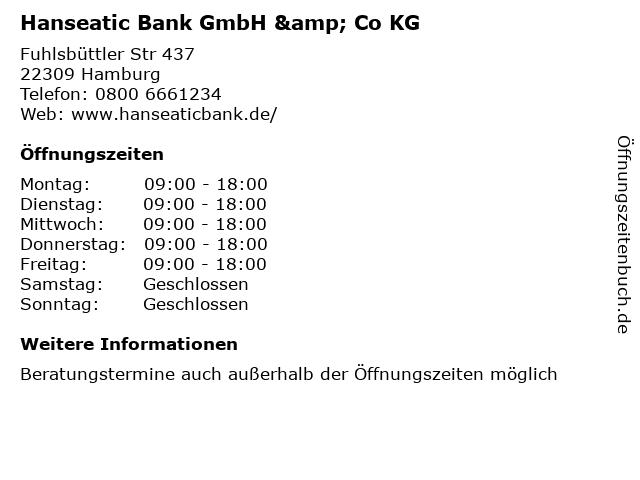 Hanseatic Bank GmbH & Co KG - Niederlassung Würzburg in Würzburg: Adresse und Öffnungszeiten