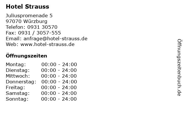 Hotel Strauss in Würzburg: Adresse und Öffnungszeiten