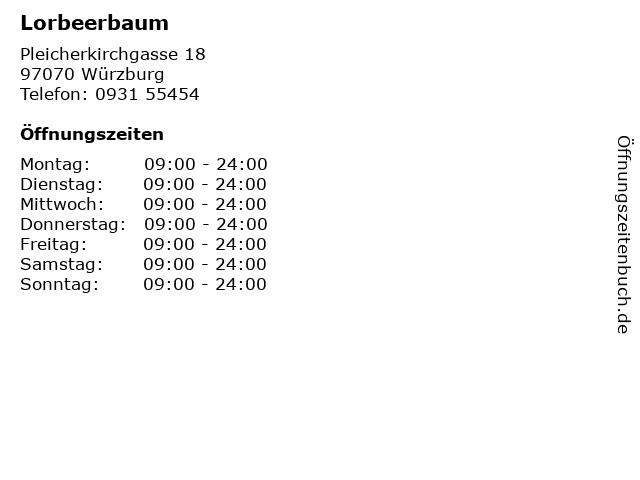 Lorbeerbaum in Würzburg: Adresse und Öffnungszeiten