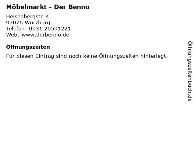 ᐅ öffnungszeiten Möbelmarkt Der Benno Heisenbergstr 4 In