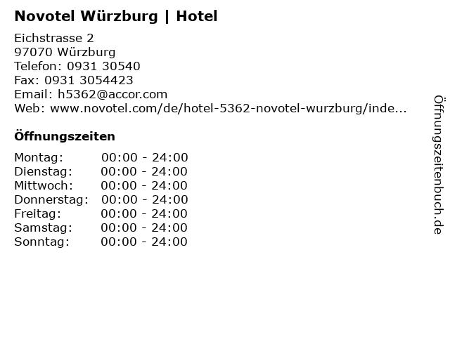 Novotel Würzburg | Hotel in Würzburg: Adresse und Öffnungszeiten