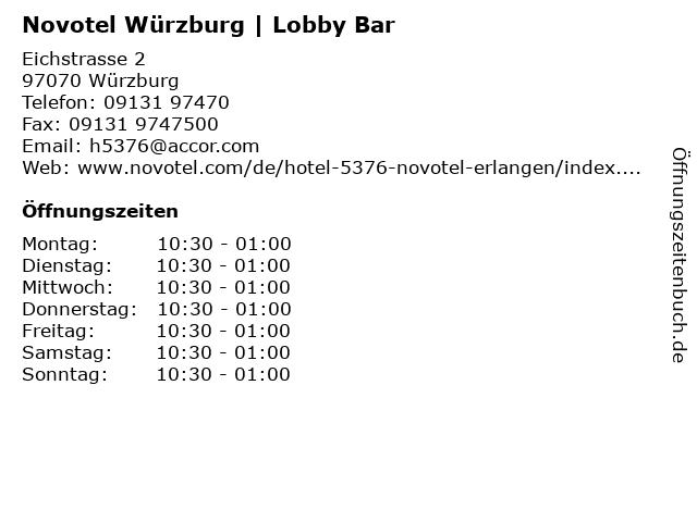 Novotel Würzburg | Lobby Bar in Würzburg: Adresse und Öffnungszeiten