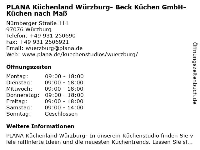 ᐅ Öffnungszeiten Plana Küchenland - Beck Küchen GmbH | Nürnberger ...