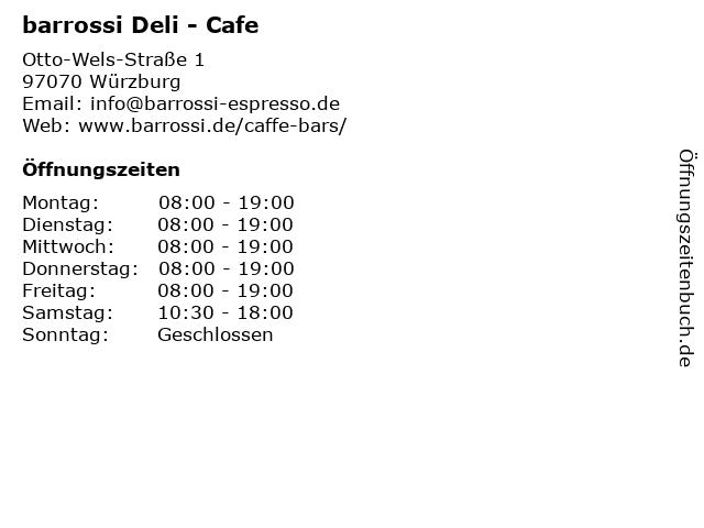 barrossi Deli - Cafe in Würzburg: Adresse und Öffnungszeiten
