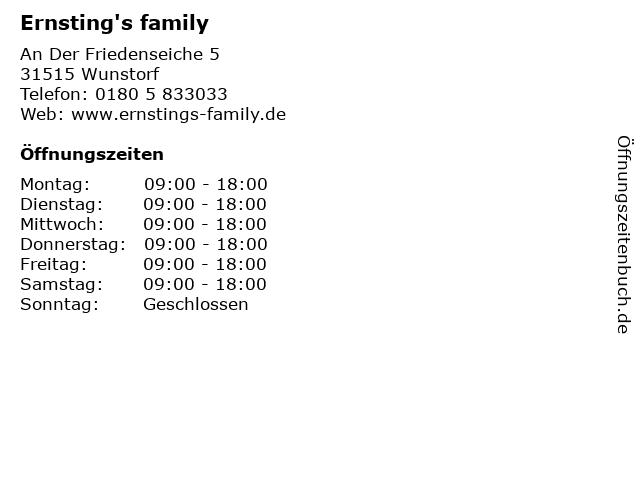 Ernsting's family in Wunstorf: Adresse und Öffnungszeiten