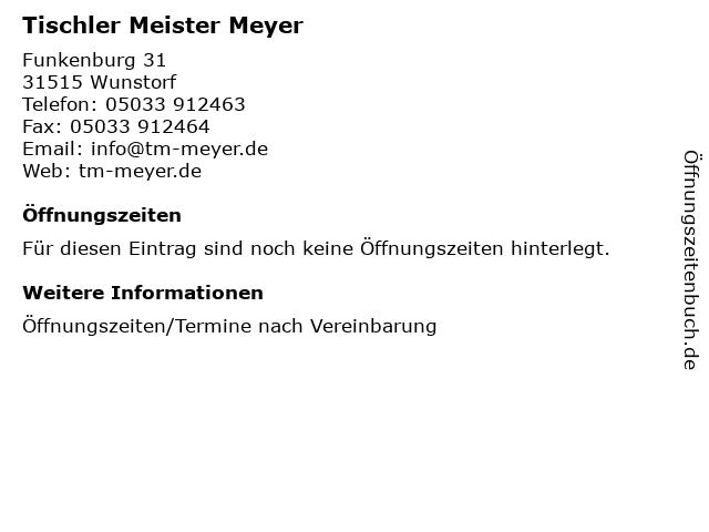 ᐅ öffnungszeiten Tischler Meister Meyer Bau U Möbeltischerei