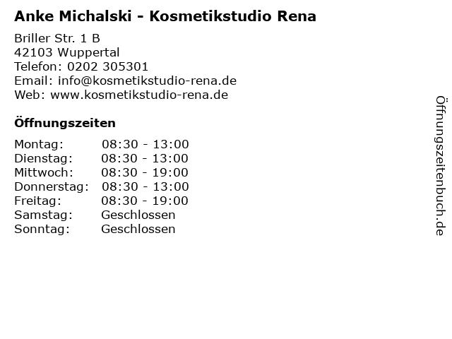 Anke Michalski - Kosmetikstudio Rena in Wuppertal: Adresse und Öffnungszeiten