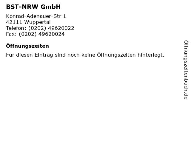 BST-NRW GmbH in Wuppertal: Adresse und Öffnungszeiten