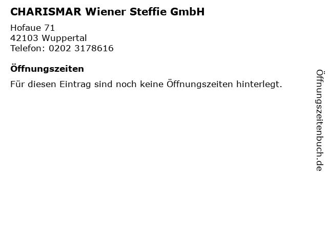 CHARISMAR Wiener Steffie GmbH in Wuppertal: Adresse und Öffnungszeiten
