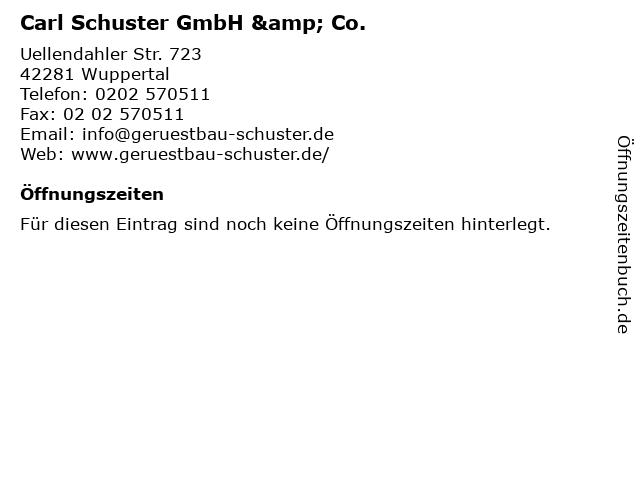 Carl Schuster GmbH & Co. in Wuppertal: Adresse und Öffnungszeiten