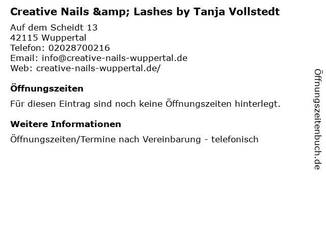 Creative Nails & Lashes by Tanja Vollstedt in Wuppertal: Adresse und Öffnungszeiten