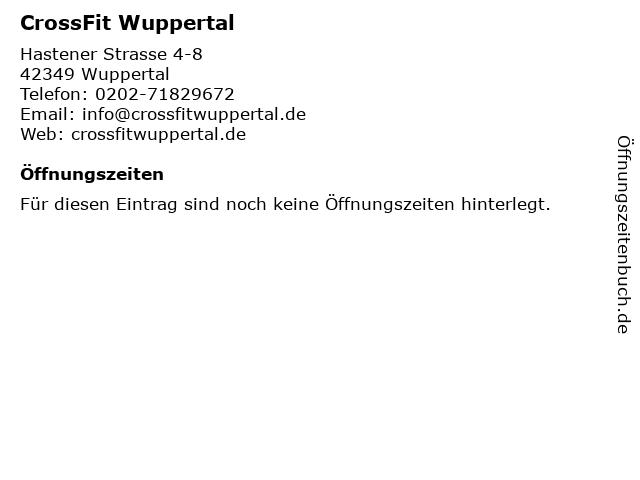 CrossFit Wuppertal in Wuppertal: Adresse und Öffnungszeiten