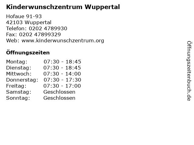 Dr. Mohr, Bernhard in Wuppertal: Adresse und Öffnungszeiten