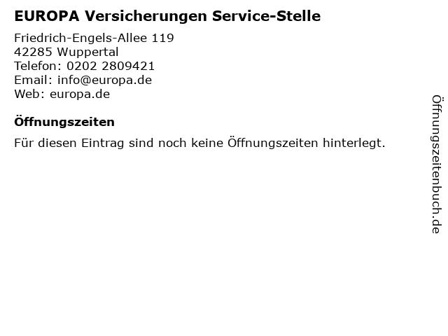 EUROPA Versicherungen Service-Stelle in Wuppertal: Adresse und Öffnungszeiten