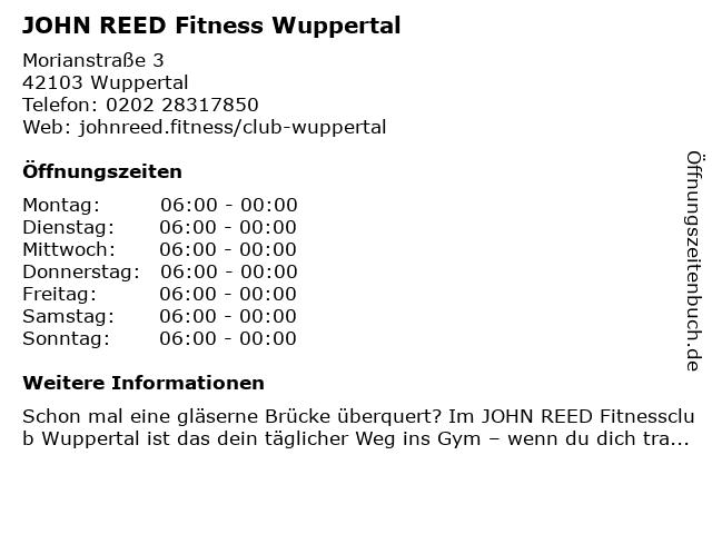 JOHN REED Fitness in Wuppertal: Adresse und Öffnungszeiten