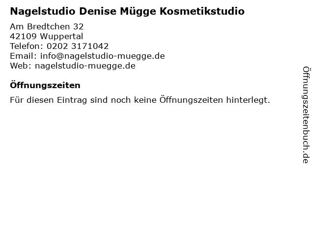 Nagelstudio Denise Mügge Kosmetikstudio in Wuppertal: Adresse und Öffnungszeiten