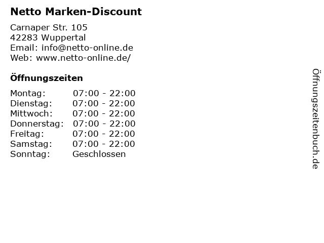 Netto Marken-Discount in Wuppertal: Adresse und Öffnungszeiten