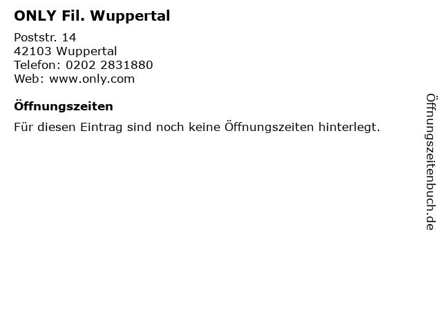 ONLY Fil. Wuppertal in Wuppertal: Adresse und Öffnungszeiten
