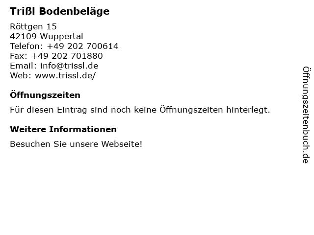 Richard Trißl Bodenbeläge - Ausstellung in Wuppertal: Adresse und Öffnungszeiten