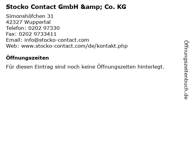 Stocko Contact GmbH & Co. KG in Wuppertal: Adresse und Öffnungszeiten