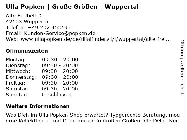Ulla Popken Wuppertal City - Arkaden in Wuppertal: Adresse und Öffnungszeiten