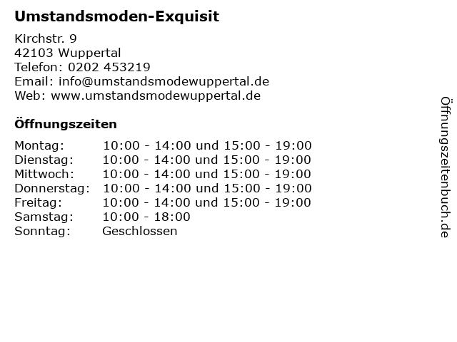 Umstandsmoden-Exquisit in Wuppertal: Adresse und Öffnungszeiten