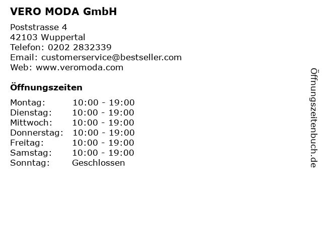 VERO MODA GmbH in Wuppertal: Adresse und Öffnungszeiten