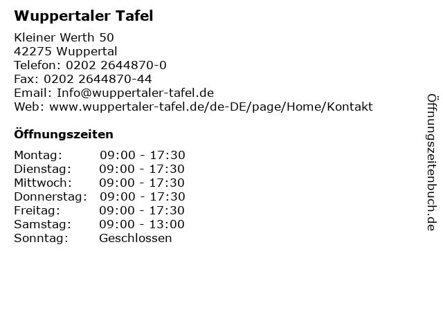 Wuppertaler Tafel - Medimobil (Elberfeld / Hofaue, vor Alpha-Apotheke)) in Wuppertal: Adresse und Öffnungszeiten