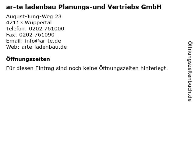 ar-te ladenbau Planungs-und Vertriebs GmbH in Wuppertal: Adresse und Öffnungszeiten