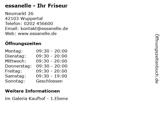 essanelle - Ihr Friseur in Wuppertal: Adresse und Öffnungszeiten