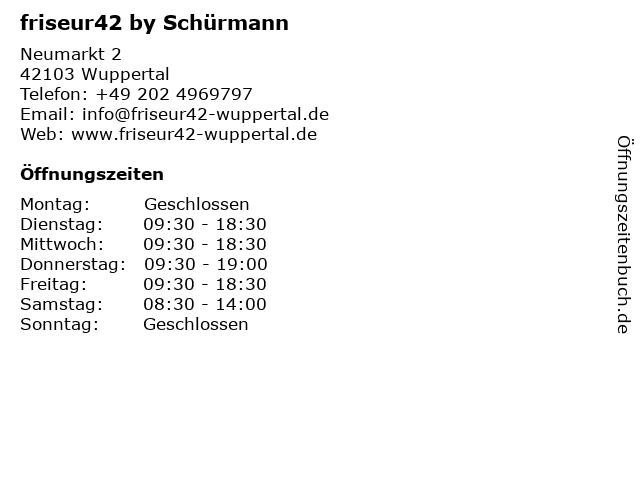 friseur42 by Schürmann in Wuppertal: Adresse und Öffnungszeiten