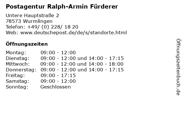 Post Wurmlingen