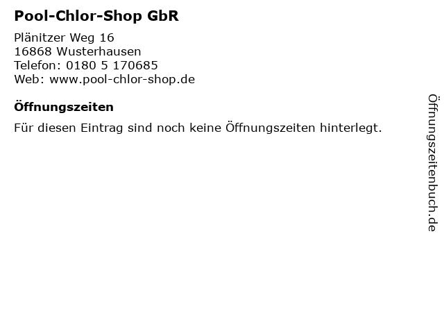 ᐅ öffnungszeiten Pool Chlor Shop Gbr Plänitzer Weg 16 In
