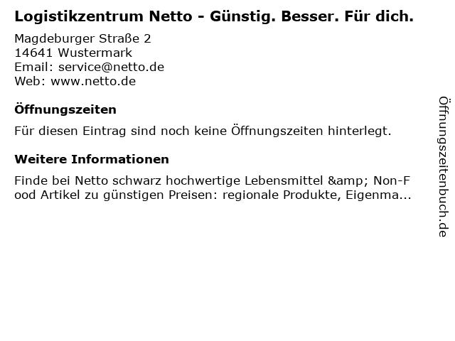 NETTO ApS & Co. KG in Wustermark: Adresse und Öffnungszeiten