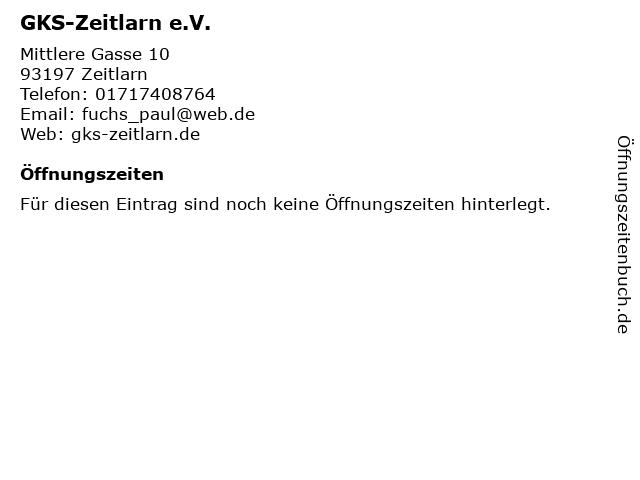 GKS-Zeitlarn e.V. in Zeitlarn: Adresse und Öffnungszeiten