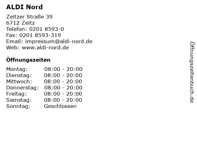 ALDI Nord in Zeitz: Adresse und Öffnungszeiten