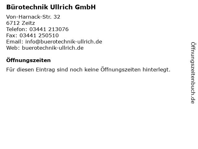 Bürotechnik Ullrich GmbH in Zeitz: Adresse und Öffnungszeiten