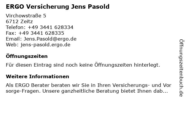 ERGO Versicherung Jens Pasold in Zeitz: Adresse und Öffnungszeiten