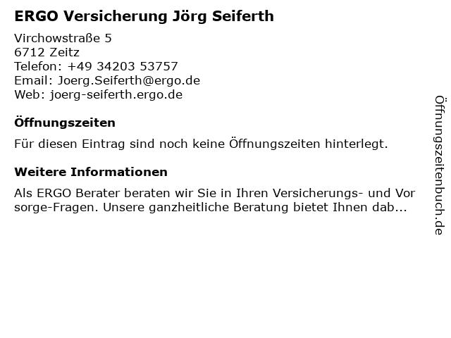 ERGO Versicherung Jörg Seiferth in Zeitz: Adresse und Öffnungszeiten