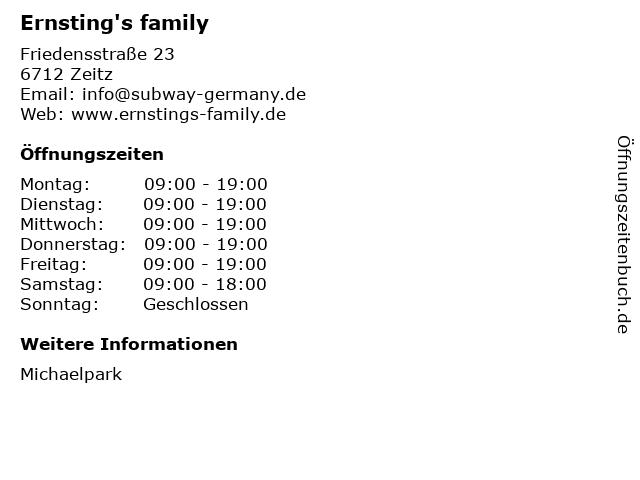 Ernsting's family GmbH & Co. KG in Zeitz: Adresse und Öffnungszeiten