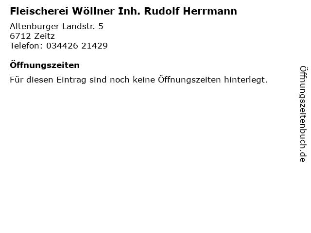 Fleischerei Wöllner Inh. Rudolf Herrmann in Zeitz: Adresse und Öffnungszeiten