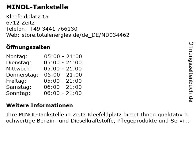 MINOL-Tankstelle in Zeitz: Adresse und Öffnungszeiten