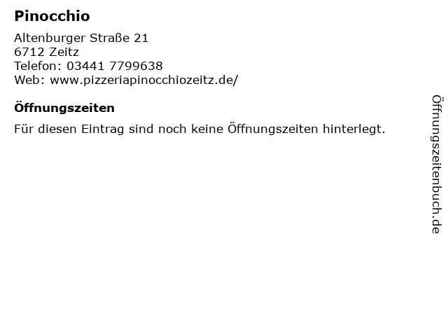 Pinocchio in Zeitz: Adresse und Öffnungszeiten