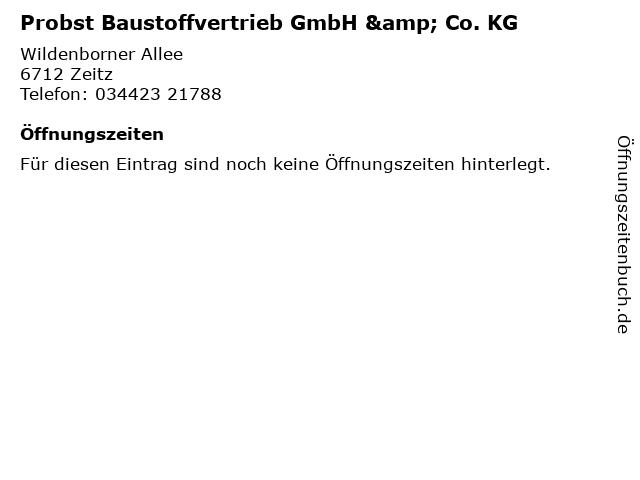 Probst Baustoffvertrieb GmbH & Co. KG in Zeitz: Adresse und Öffnungszeiten
