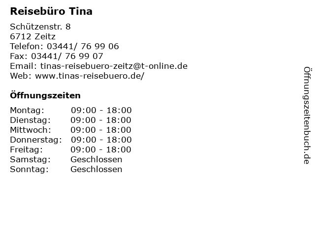 Reisebüro Tina in Zeitz: Adresse und Öffnungszeiten